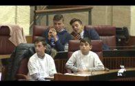 Niños de Pozoblanco y Dos Torres celebran una sesión en el Parlamento Andaluz