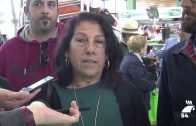 Miembros de Podemos visitan la Feria Agroganadera de Los Pedroches