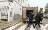 Incendio en un edificio junto a la Plaza de Toros de Pozoblanco